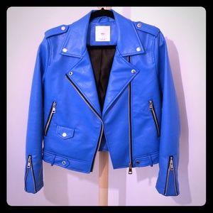 Mango blue moto jacket